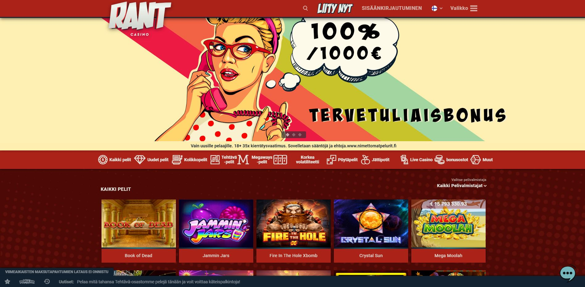 Rant casino finnish home page